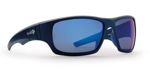 occhiale moda sport lenti polarizzate blu opaco