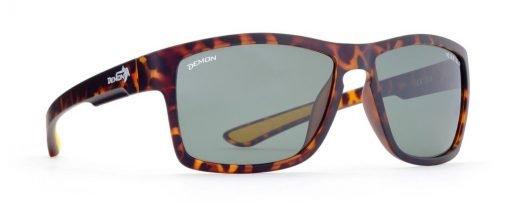 occhiale moda sport con lenti polarizzate colore marrone opaco