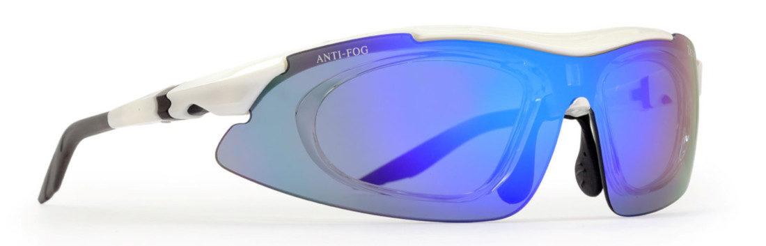 occhiale multisport da vista con lente specchiata modello arizona