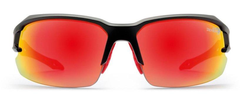 Occhiale per ciclismo e triathlon lenti specchiate intercambiabili modello TIGER nero opaco