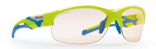 occhiale per ciclismo fotocromatico giallo fluo