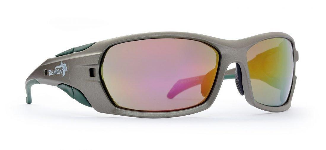 occhiale grigio per mountain bike e escursioni in montagna
