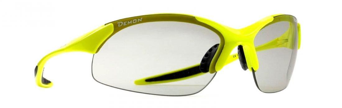 occhiale per mountain bike giallo fluo lenti fotocromatiche dchrom modello 832