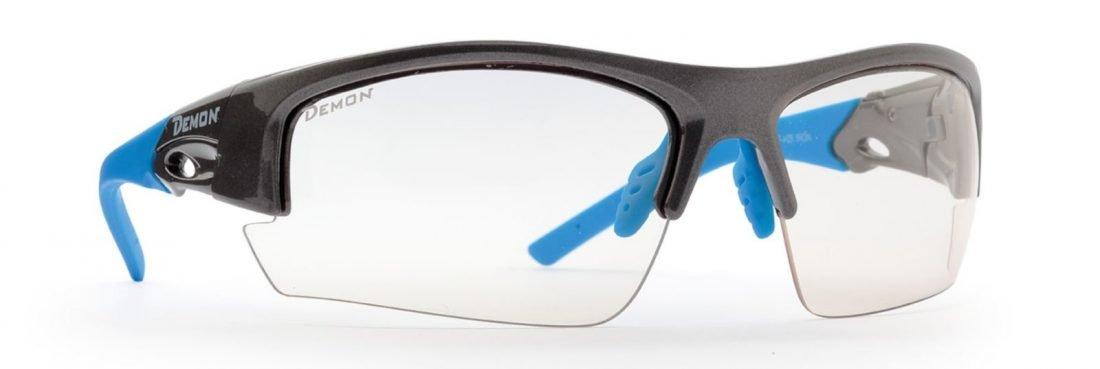 Occhiale per mountain bike lenti fotocromatiche modello iron grigio blu