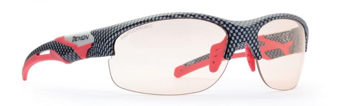 occhiale per mtb lenti fotocromatiche colore carbonio