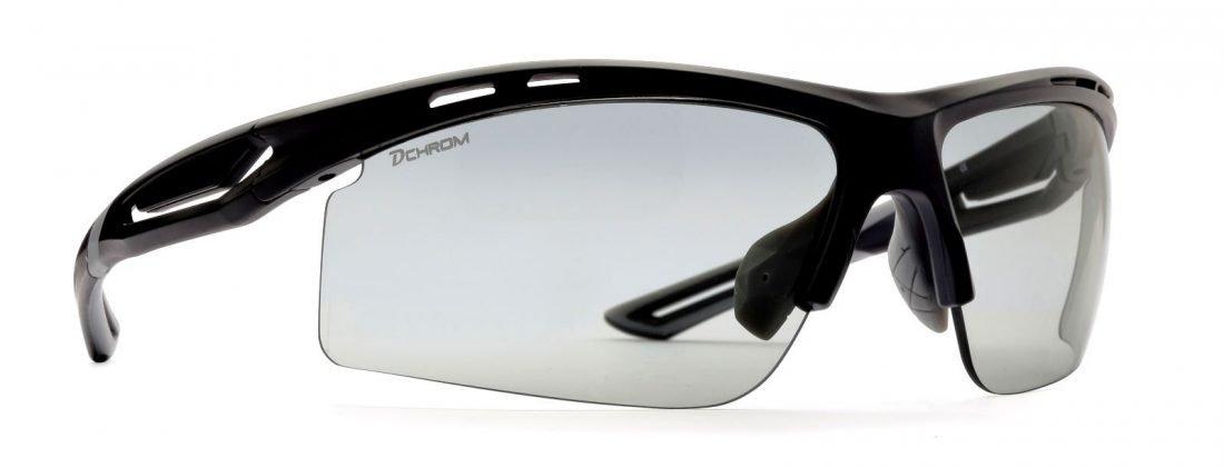 occhiale per running e trail running lenti fotocromatiche dchrom nero opaco