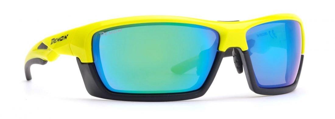 occhiale sportivo per tutti gli sport giallo fluo