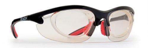 occhiale sportivo fotocromatico da vista con clip ottico per lenti graduate