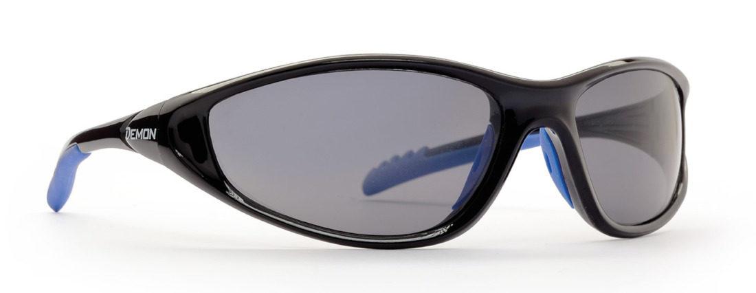 occhiale sportivo da bambino colore nero lenti specchio argento modello kid5