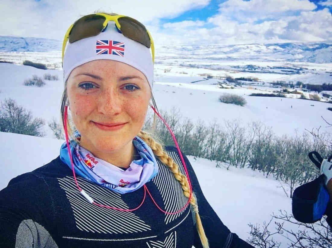 occhiale sportivo da donna per sci di fondo giallo fluo lenti fotocromatiche dchrom