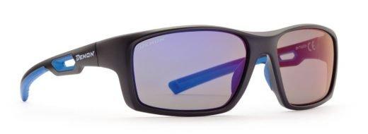occhiale sportivo da uomo con lenti specchiate blu