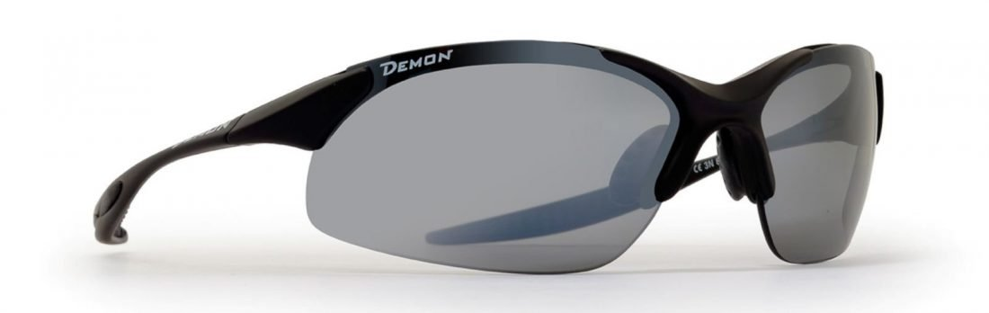 occhiale sportivo da uomo ultraleggero lenti intercambiabili nero opaco