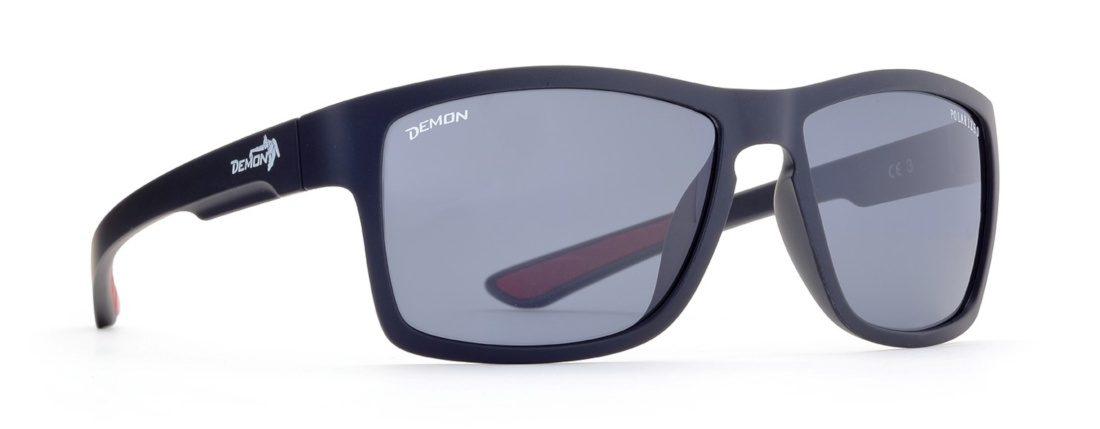 occhiale sportivo e di moda nero opaco con lenti polarizzate fumo