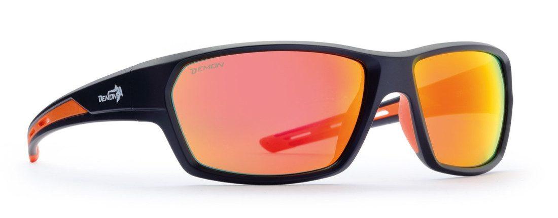 occhiale sportivo e lifestyle lenti specchiate arancio