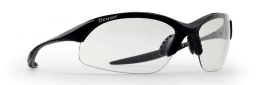 occhiale sportivo lenti fotocromatiche fumo nero opaco