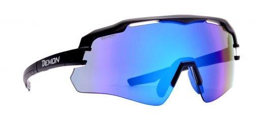 occhiale sportivo monolente lente specchiata blu