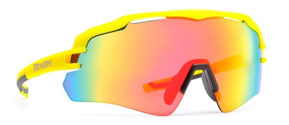 occhiale sportivo monolente per tutti gli sport modello imperial giallo opaco