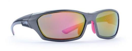occhiale sportivo per donna e teenager grigio fucsia