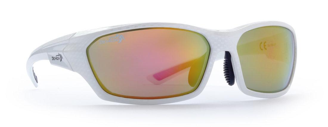 occhiale sportivo per teenager colore carbonio bianco