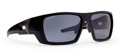 occhiale sportivo polarizzato per escursionismo nero opaco