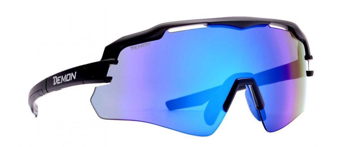 Occhiale sportivo per tutti gli sport imperial nero opaco blu mirror