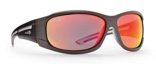 occhiale sportivo per tutti gli sport lenti specchiate colore grigio