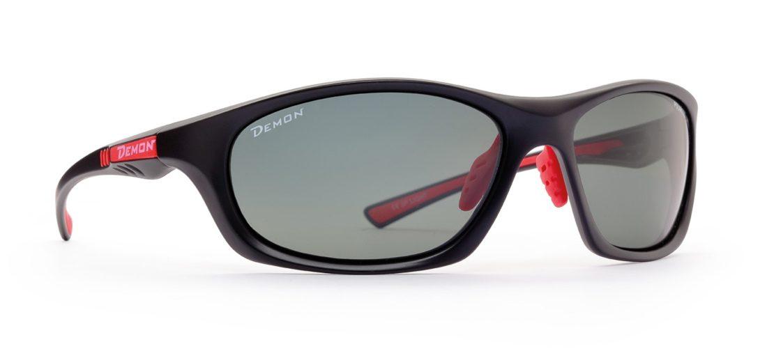 occhiale sportivo ultraleggero nero lenti polarizzate