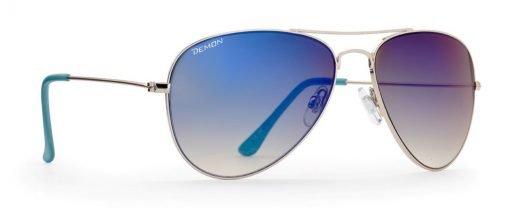 Occhiali a goccia da sole modello 0053 blu argento