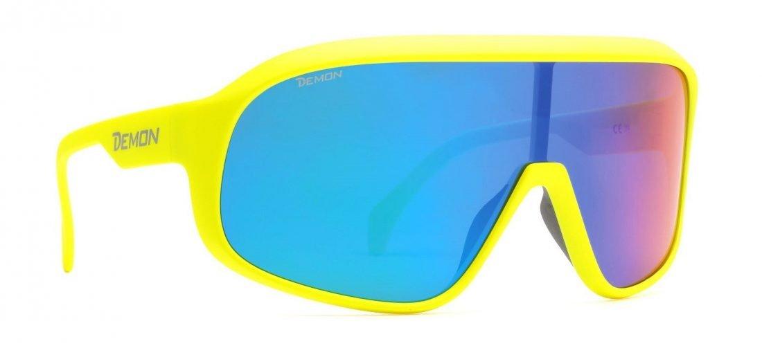 occhiali da ciclismo a mascherina lente polarizzata per mountain bike giallo fluo modello crash