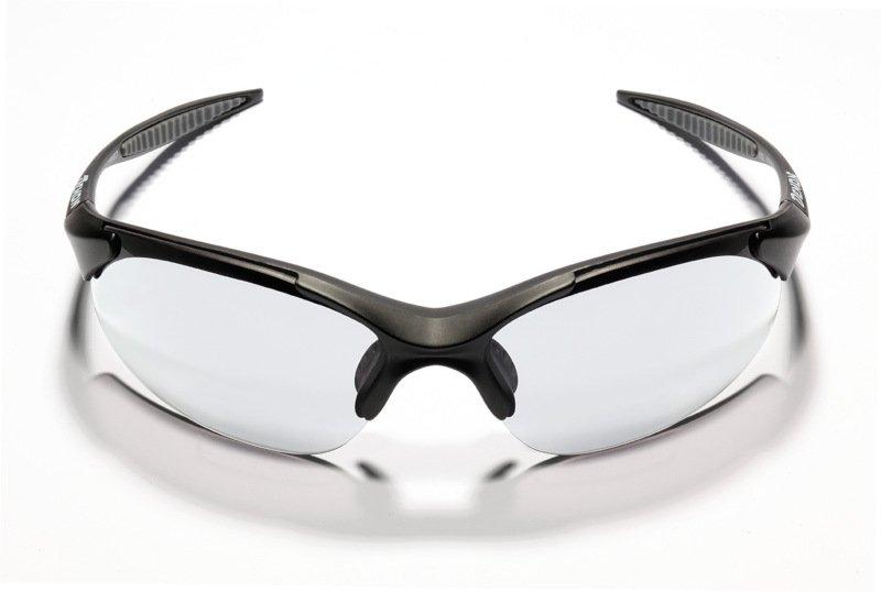 occhiale da ciclismo e mtb con lenti fotocromatiche colore nero
