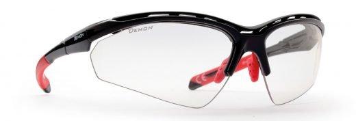 Occhiali da ciclismo e mtb tecnici ultraleggeri modello hero nero lucido