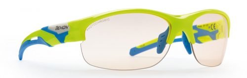 Occhiali da ciclismo fotocromatici modello tour giallo fluo
