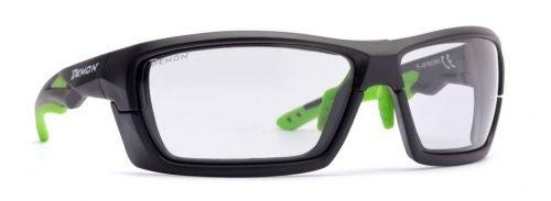 occhiali da montagna multisport con lenti fotocromatiche dchrom modello record nero opaco verde