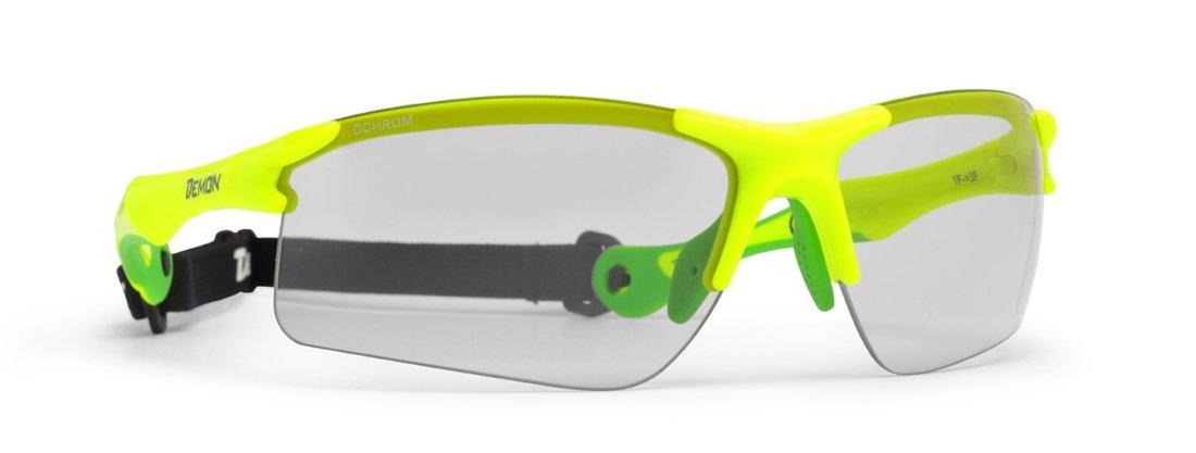 Occhiali da mountain bike lenti fotocromatiche DCHROM modello TRAIL giallo Fluorescente