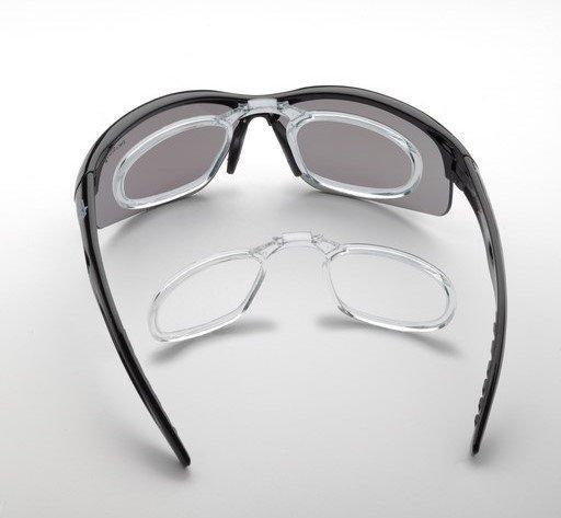 occhiali da vista con lenti specchiate fumo categoria 3 per running e trail running