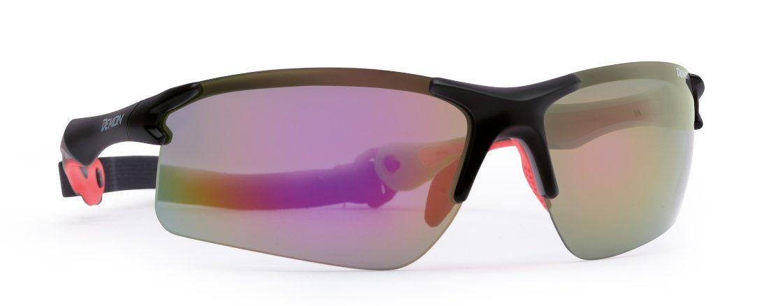 occhiale per running e ciclismo lenti specchiate intercambiabili