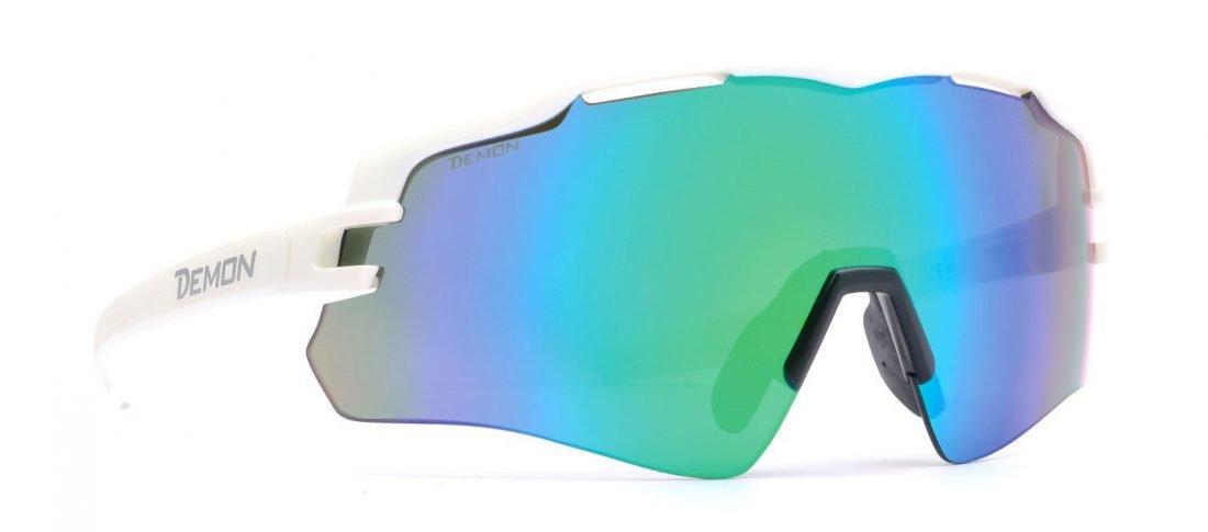 occhiali sportivi monolente per tutti gli sport modello imperial bianco