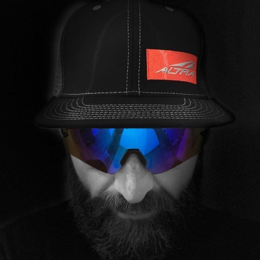 Occhiali sportivi per tutti gli sport lente specchiata blu multistrato modello imperial nero opaco blu