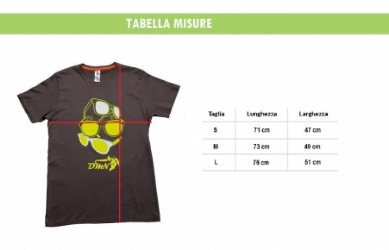 Guida alle taglia T-shirt DMN