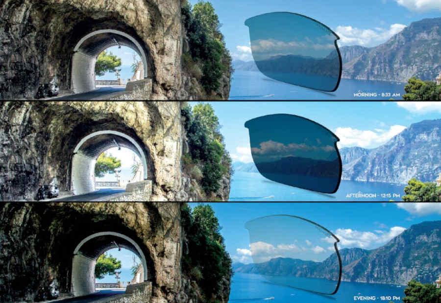 spiegazione funzionamento lente fotocromatica dchrom per running