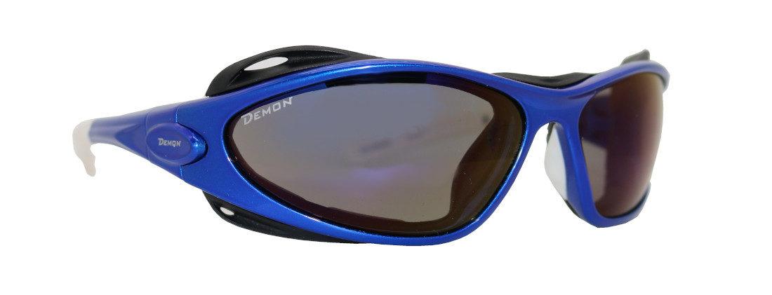 occhiale per escursionismo colore blu con spugna parasudore