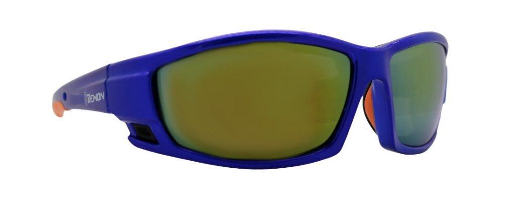 occhiale da alpinismo blu con lenti specchiate modello piz