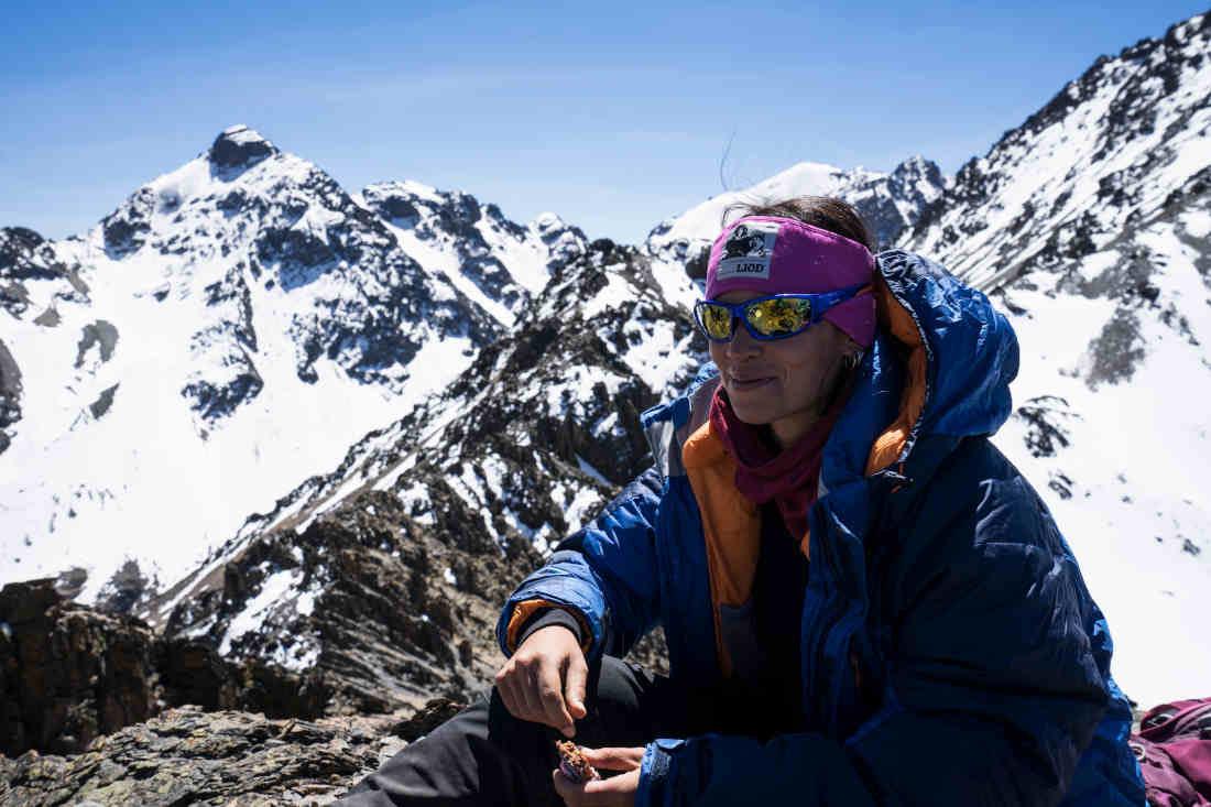occhiale da donna per montagna e ghiacciaio colore blu lenti specchiate