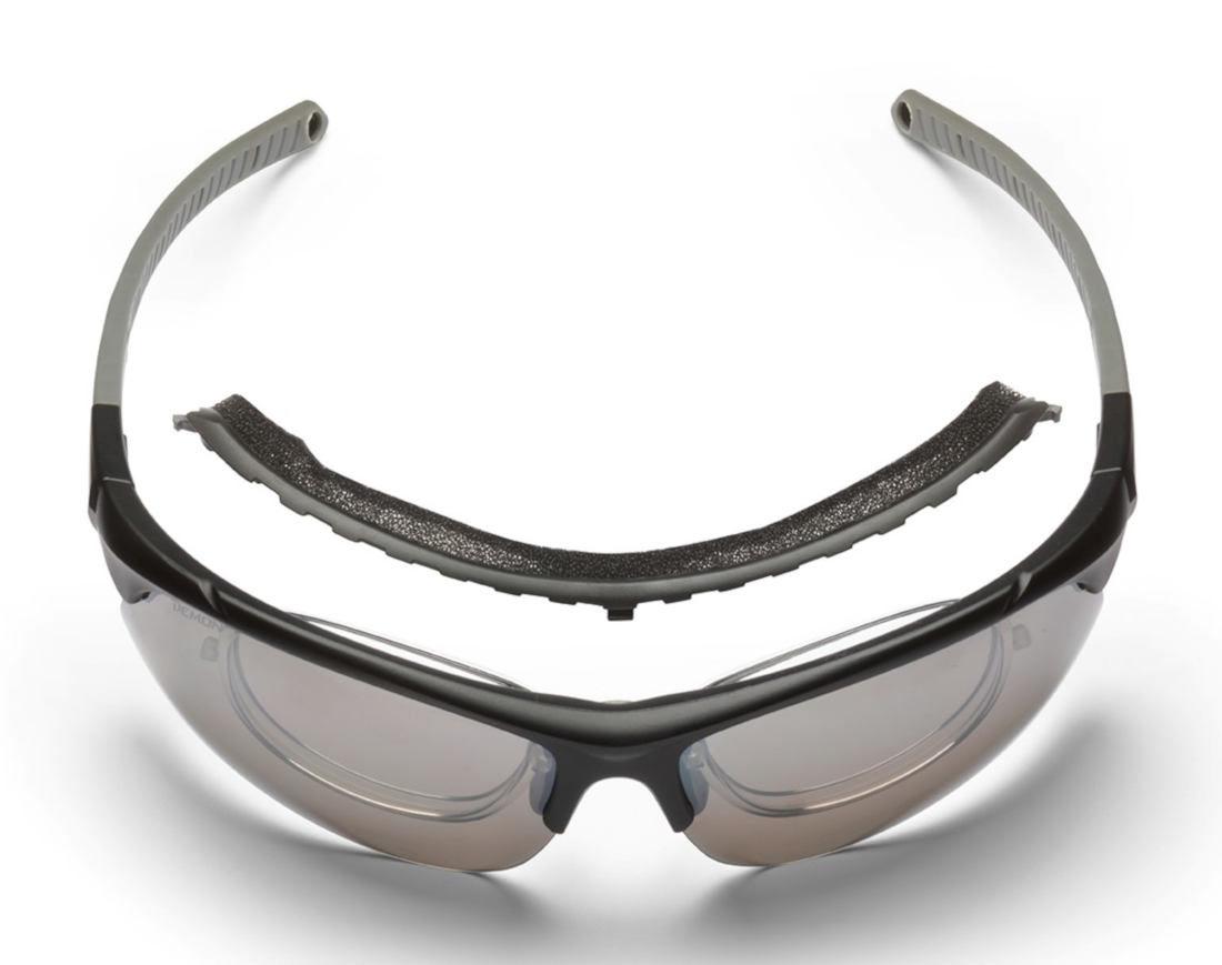 occhiale sportivo da vista con spugna parasudore removibile colore nero