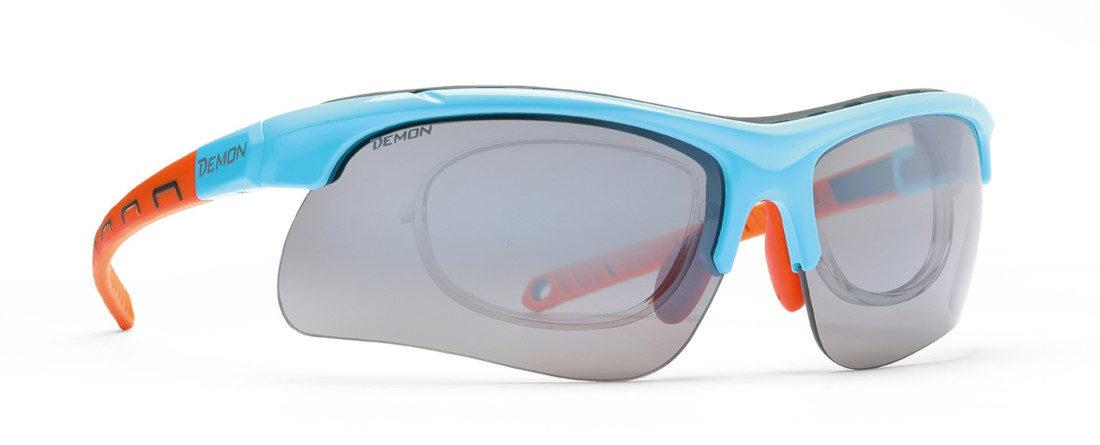 occhiale da vista per sci di fondo modello infinite azzurro