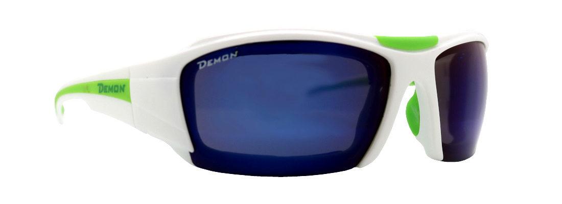occhiale tecnico per escursionismo bianco lenti specchaite blu