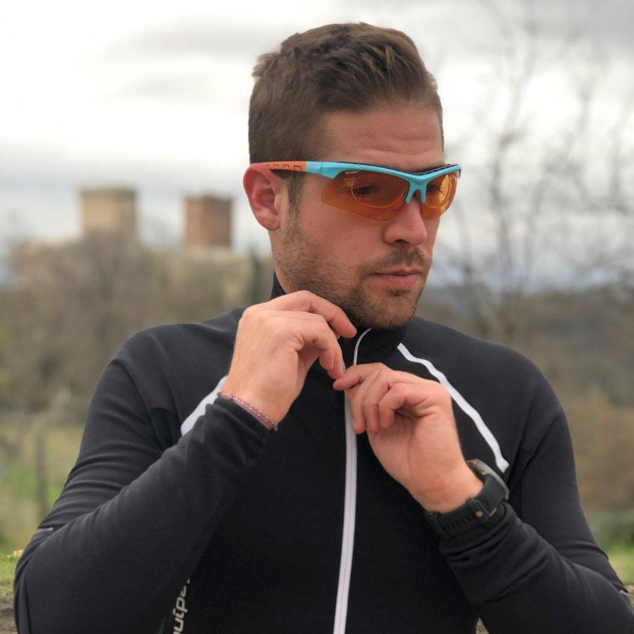 Occhiali da vista per running e trail running con lenti intercambiabili modello infinite optic rx