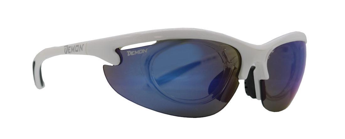 occhiale sportivo da vista colore bianco con clip ottico