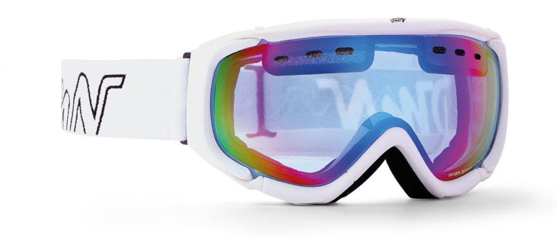 maschera da donna per snowboard con lente azzurra