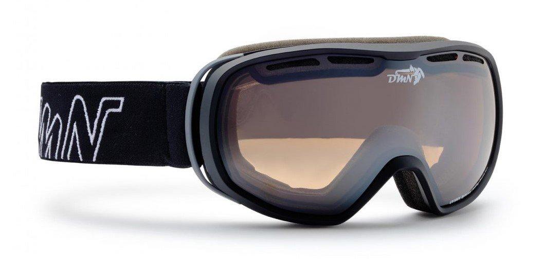 Maschera da sci per donna e teenager nero opaco modello THUNDER